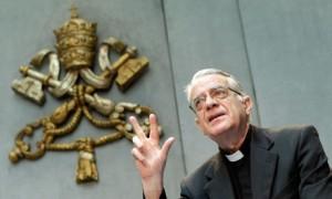 El portavoz del Vaticano Federico Lombardi, en una reciente intervención en la que negó que la Comisión sobre Medjugorje hiciera pública sus conclusiones en el 2012.
