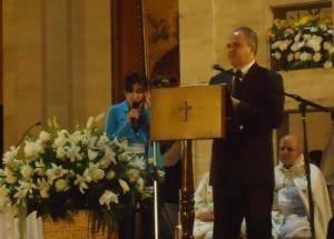 Ivan dando su testimonio en Maghouche el 17 de noviembre