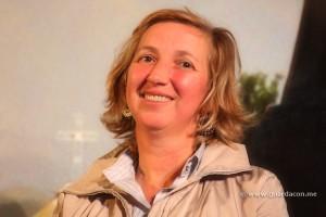 Marija Pavlovic-Lunetti – abrumada por la experiencia el día de Navidad, casi no pudo hablar con los traductores.