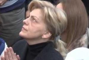 Mirjana durante su última aparición, el pasado 2 enero
