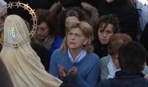 Mirjana durante su aparición el 2 de marzo
