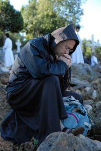 Orando en Medjugorje