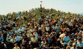 Multitud en peregrinación