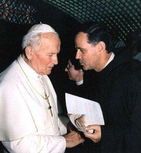 Padre Jozo y Juan Pablo II