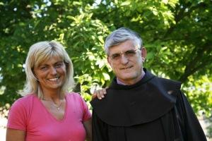 Mirjana y el Padre Petar Ljubicic