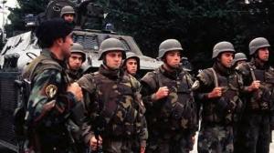 La policía militar en Medjugorje