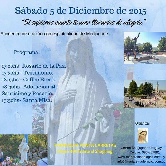 Encuentro con espiritualidad de Medjugorje el 5 de diciembre de 2015